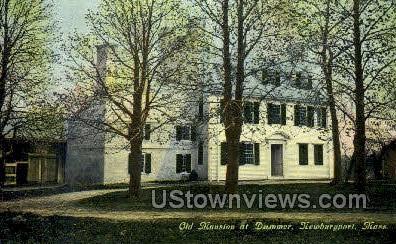Old Mansion, Dummer - Newburyport, Massachusetts MA Postcard