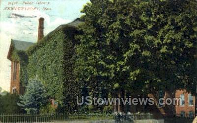 Public Library - Newburyport, Massachusetts MA Postcard