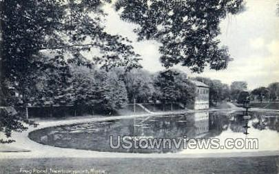 Frog Pond - Newburyport, Massachusetts MA Postcard
