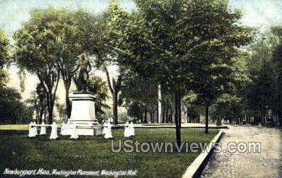Washington Mall - Newburyport, Massachusetts MA Postcard