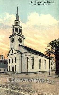 First Presbyterian Church - Newburyport, Massachusetts MA Postcard