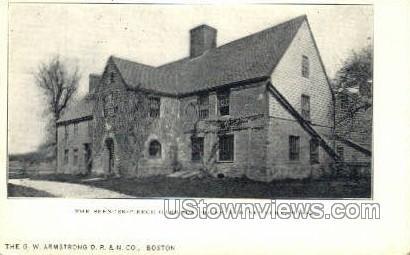 The Spencer-Pierce Garrison House - Newbury, Massachusetts MA Postcard