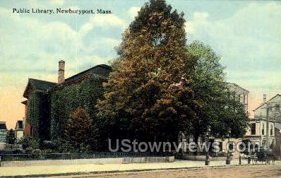 Public Library - Newbury, Massachusetts MA Postcard
