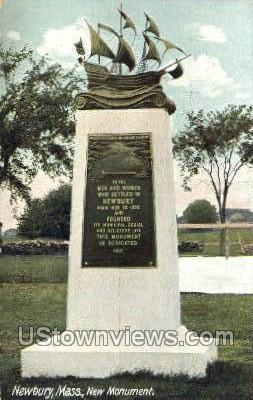 New Monument - Newbury, Massachusetts MA Postcard