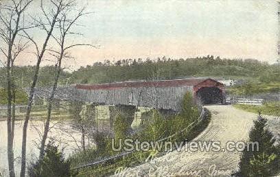 Rocke Bridge - Newbury, Massachusetts MA Postcard