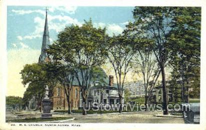 M.E. Church - North Adams, Massachusetts MA Postcard