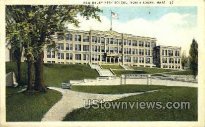 New Drury High School - North Adams, Massachusetts MA Postcard