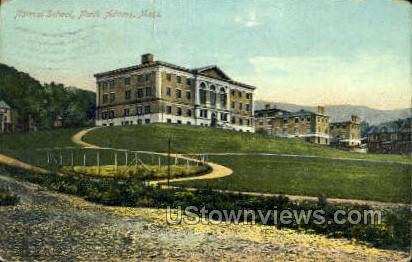 Normal School - North Adams, Massachusetts MA Postcard