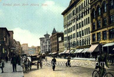 Kinbell Block - North Adams, Massachusetts MA Postcard