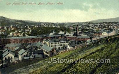 The Arnold Print Works - North Adams, Massachusetts MA Postcard