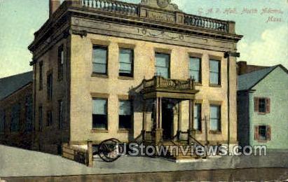 G.A.R. Hall - North Adams, Massachusetts MA Postcard
