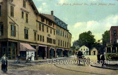 Cor. Main & Ashland Sts. - North Adams, Massachusetts MA Postcard