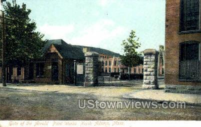 Gate of Arnold Print Works - North Adams, Massachusetts MA Postcard