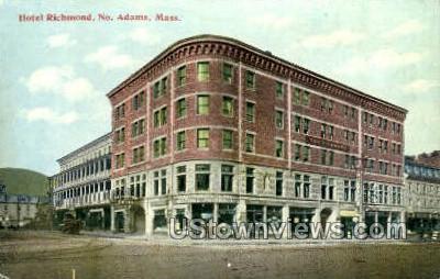 Hotel Richmond - North Adams, Massachusetts MA Postcard