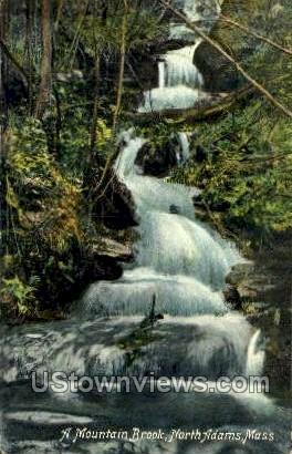 A Mountain Brook - North Adams, Massachusetts MA Postcard