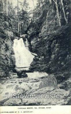 Cascade Brook - North Adams, Massachusetts MA Postcard