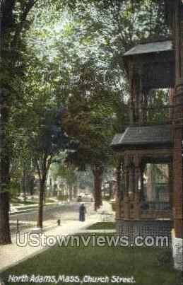 Church St. - North Adams, Massachusetts MA Postcard