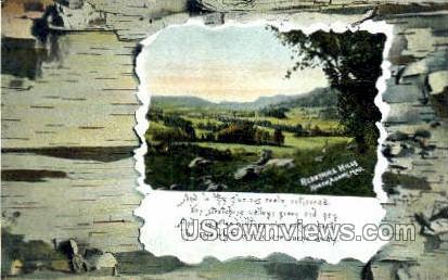 Berkshire Hills - North Adams, Massachusetts MA Postcard
