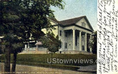Residence of Hon. H. W. Clark - North Adams, Massachusetts MA Postcard