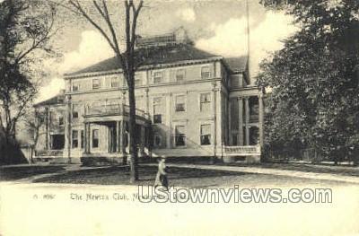 The Newton Club - North Adams, Massachusetts MA Postcard
