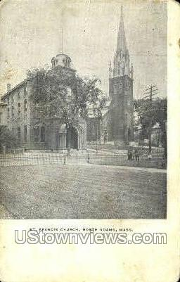 St. Francis Church - North Adams, Massachusetts MA Postcard