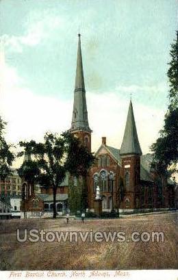 First Baptist Church - North Adams, Massachusetts MA Postcard