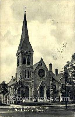 St. John's Episcopal Church - North Adams, Massachusetts MA Postcard
