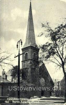 Congregational Church - North Adams, Massachusetts MA Postcard