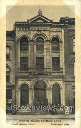 North Adams Saving Bank - Massachusetts MA Postcard