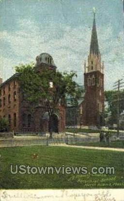 St. Francis Church Parochial School - North Adams, Massachusetts MA Postcard