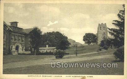 Northfield Seminary Campus - East Northfield, Massachusetts MA Postcard