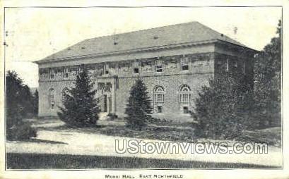 Music Hall - East Northfield, Massachusetts MA Postcard