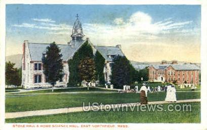 Stone Hall & Home Science Hall - East Northfield, Massachusetts MA Postcard