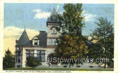 Talcott Library, Northfield Seminary - East Northfield, Massachusetts MA Postcard