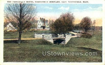 The Principal's House - East Northfield, Massachusetts MA Postcard