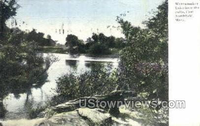 Wannamaker Lake - East Northfield, Massachusetts MA Postcard