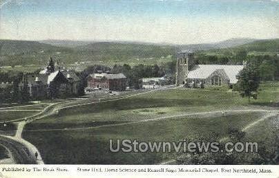 Stone Hall, Home Science - East Northfield, Massachusetts MA Postcard