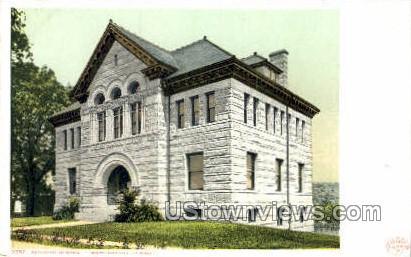 Dickinson Memorial Library - East Northfield, Massachusetts MA Postcard