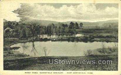 Perry Pond, Northfield Seminary - East Northfield, Massachusetts MA Postcard