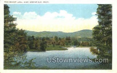 Wanamaker Lake - East Northfield, Massachusetts MA Postcard
