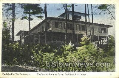 The Louise Andrews Camp - East Northfield, Massachusetts MA Postcard