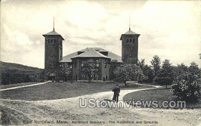 Auditorium & Grounds - East Northfield, Massachusetts MA Postcard