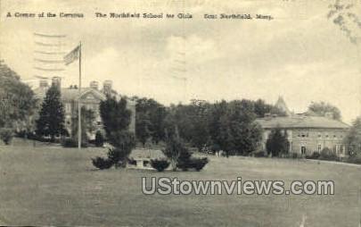 The Northfield School for Girls - East Northfield, Massachusetts MA Postcard
