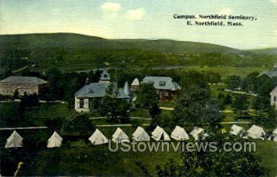 Campuse, Northfield Seminary - East Northfield, Massachusetts MA Postcard