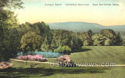 Campus, Northfield Seminary - East Northfield, Massachusetts MA Postcard