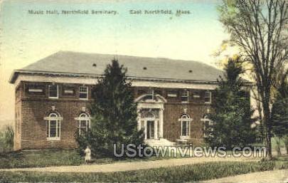 Music Hall, Northfield Seminary - East Northfield, Massachusetts MA Postcard