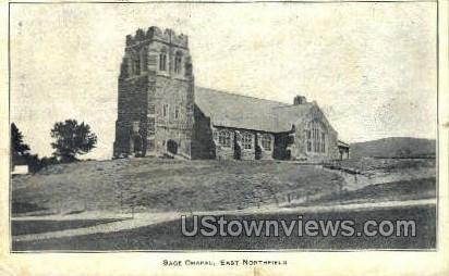Sage Chapel - East Northfield, Massachusetts MA Postcard