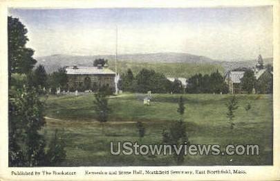 Kenarden & Stone Hall - East Northfield, Massachusetts MA Postcard