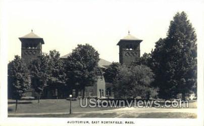 Auditorium - East Northfield, Massachusetts MA Postcard