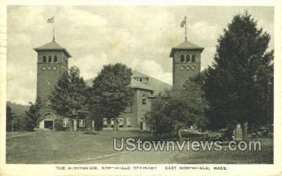 The Auditorium, Northfield Seminary - East Northfield, Massachusetts MA Postcard